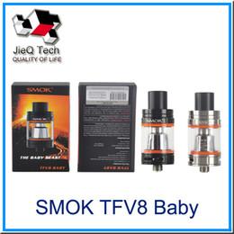 Wholesale Head Top Baby - SMOK TFV8 Baby Tank Cloud Beast 510 Thread 3ML With TFV8 Baby Q2 X4 Coil Head Top Refill System Smok Vape Mods