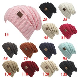 Wholesale Luxury Garden Wholesale - CC Women Hats Winter Knitted Woolen Luxury Cable Slouchy Skull Caps Fashion Leisure Beanies Outdoor Hats Christmas Gift Free DHL XL-A25