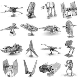 Wholesale Wholesalers For Metal Robot Toys - 3D Metal Puzzle 108 Styles assembly Toys model DIY Tank millennium falcon Tie Fighter famous building puzzle for kids adult gifts DHL