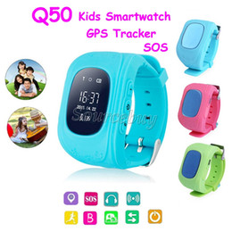 Wholesale Emergency Calling - Q50 GPS Tracker Watch For Kids Children SOS Emergency Anti Lost Bracelet Wristband Two Way Communication Smart Phone App Wearable OLED Gift