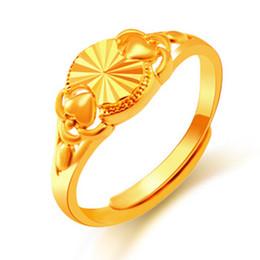 Wholesale 24k Gold Wedding Rings Wholesale - wholesale Opening clutch plating gold ring 24K gold-plated rings female ladies ring for women