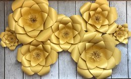 Wholesale Bridal Shower Paper - Wedding Backrop Paper flowers gold paper flower backdrop bridal shower baby birthday party decorations photobooth backdrop