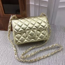 Wholesale Womens Solid Gold Chains - Hot sales mini 17cm women High quality womens brand designer Leather handbag Shoulder Bags tote Gold chain and silver chain (18 color) #1115