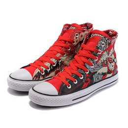 Wholesale Luxury American Shoes - High Designer Mens Shoes For Women Luxury Canvas Shoes Sneakers Casual Winter Designer Shoes With American National Flag Printed