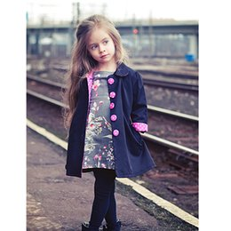 Wholesale Kids Oxfords - European Autumn Kids Jackets Girls Fashion Manteau Enfant Fille Cute Dot Casaco Menina Spring Girls Coats And Jackets