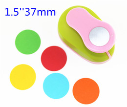 Wholesale Shaper Punch Craft Scrapbook - Wholesale- 3.5cm DIY Paper Printing Card Cutter Scrapbook Shaper Large-scale Embossing device Hole Punch Kids Handmade Craft gift YH16