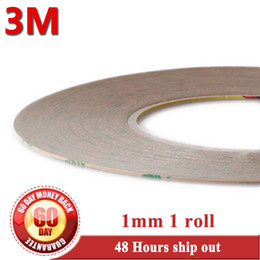 Wholesale Screen Roll 3m - Wholesale- 2016 Original 1mm 3M 9495LE 300LSE Double Sided Clear Sticky Tape 55M roll for Iphone 5 4 4s Digitizer Screen Frame Touch Panel
