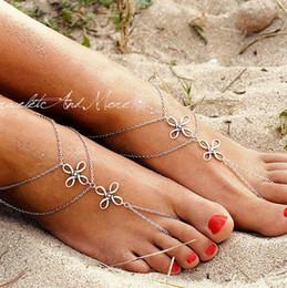 chinesische fußkettchen Rabatt Beach Fußkettchen Europa und die Vereinigten Staaten Retro Metal Chinese Knot Multi - Layer Chain Fußkette