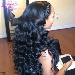 Atacado rainha amor cabelo on-line-Rainha Amor Peruano Onda Solta 3 Pacotes 8a Onda Solta Virgem Cabelo Bundle Ofertas Peruano Virgem Tecer Cabelo Humano Extensões de Cabelo Por Atacado