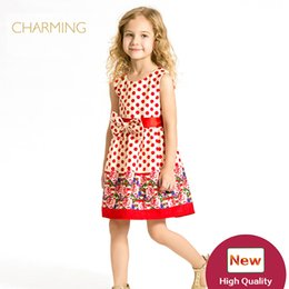 Wholesale Kids Clothes Girls Dresses China - Brand new fashion kids clothes Designer children clothing Quality printed round neck sleeveless dress Best wholesale suppliers from china