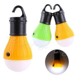 Wholesale Led Bulbs For Camping - Wholesale-for Portable Hanging Hook 3LED Camping Tent Light Outdoor Fishing Lantern Lamp Torch