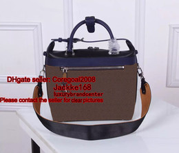 Wholesale Real Leather Satchel Handbags - CITY CRUISER PM GARANCE women's real canvas + genuine leather handbag tote shoulder bag Cross Body Satchel boston M42410 M52008