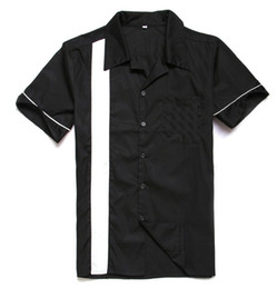Wholesale Free Online Store - Wholesale- Vintage Shirts UK Spring&Summer Cotton Short Sleeve Mens Casual Shirts Classic Black Color Plus Size OnLine Store Free Shipping