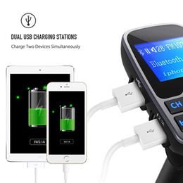 LCD Kablosuz Bluetooth Araç FM Verici MP3 Müzik Çalar Kiti Oto Radyo Ses Stereo Çalar Handsfree USB SD MMC + 3.5mm AUX CAU_215 nereden tabletler çağrısı tedarikçiler