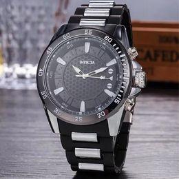 Wholesale Brazilian Drop Ship - INVICTA 2017 NEW Large Dial Luxury Mens Quartz Watch Sports Watch 5 Colors hot Brazilian Watches Large Inventory Wristwatch Drop Shipping