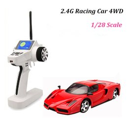 Wholesale Brushless Car Speed Controller - High speed rc car 4wd rc truck 1 28 ferrari model remote control cars toys for children drop shipping
