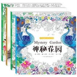 Wholesale Book Plants - Coloring Book Decompression Novelty Painting Books Magical Forest Hand Painted Time Journey Mystery Garden Fairy Dream Colour 5 3hy H1