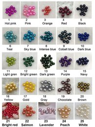 Wholesale Freshwater Pearls Loose Round - Wholesale 50pcs lot 6-7mm perfect round dyed natural pearls loose freshwater pearls loose pearls free shipping