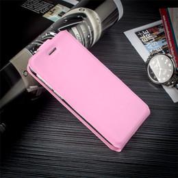 Iphone leder flip case braun online-Braun pu leder telefon case flip up und down smart phone cases abdeckung für iphone 4s