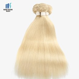 Wholesale Blonde Extension Weave - 100g Color 613 Lightest Blonde Bleach Blonde Extensions Remy Hair Bundles Silk Straight Body Wave Quality Human Hair Weave