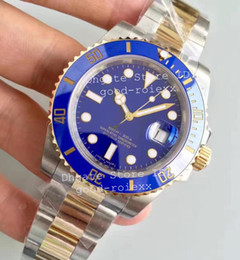 Wholesale Luxury Watch 18k Gold Sapphire - Luxury Noob Factory V7 Real Wrapped 18k Gold Never Fade Watch Mens Automatic Eta 2836 Watches Men 116613 LN Dive Sport 116613LB Wristwatches