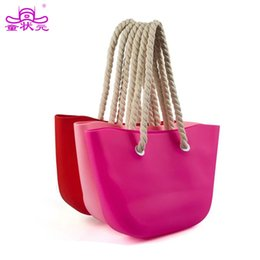 Wholesale silicone jelly handbags - 2017 The New Women Designer Handbag Silicone Gel Bag Summer Candy Color Beach Bag