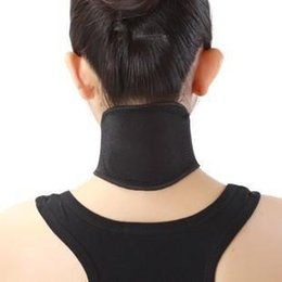 Wholesale Body Slim Tester - 500pcs Health Care Self Heating Tourmaline Magnetic Neck Heat Therapy Support Belt Wrap Brace Massager Slim Equipment Free Shipping