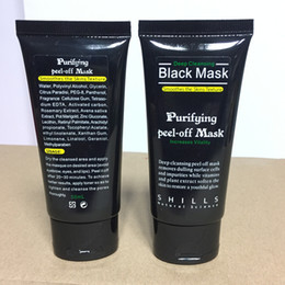 Wholesale Black Heads Removal - DHL SHILLS Black Mask Remover Blackhead Nose Pore Facial Mask Deep Cleansing Mud Mask Purifying Peel Off Acne Black Heads Removal