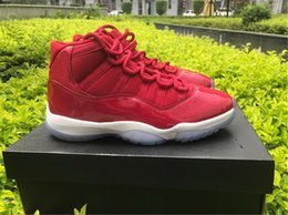 Wholesale Height Carbons - Top Quality Retro 11 OG Gym Red Chicago Midnight Navy Basketball Men Athletic Real Carbon Fiber Sport Shoes Drop Shipping sneaker