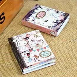 Записная бумага каваи онлайн-Wholesale- 1Pcs 6 Fold Sticky Note Pad Notebook Cute Students Noting Paper Kawaii Sentimental Circus  Notepad Memo pad Wholesale