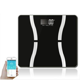 Wholesale Digital Scale For Body - Wholesale-Multifunctional Mini Smart Weight Scale Blootooth Digital Body Fat Health Scale Support Android4.3 For IOS7.0 Bluetooth 4.0