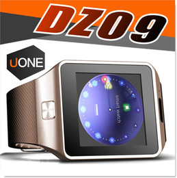 Wholesale italian messages - DZ09 Smart Watch GT08 U8 A1 Wrisbrand Android Smart SIM Intelligent mobile phone watch can record the sleep state Smartwatch
