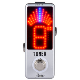 Wholesale Wholesale Guitar Pedals - Wholesale- Mini Chromatic Tuner Pedal Effect LED Display True Bypass for Guitar Bass