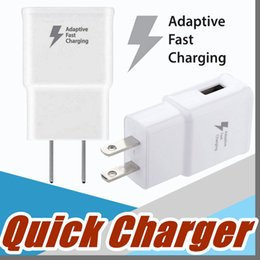 Wholesale Note Travel - Top Quality 5V 2A 9V 1.67A Adaptive Fast Charging Travel Wall Charger For Galaxy S6 S7 s8 Edge Plus Note 3 4 Note 5 F-SC