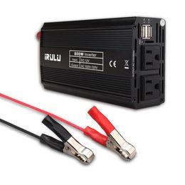 Wholesale Digital Supply Voltage - US Stock iRULU 800W Portable Inverter Microprocessor Digital Power Inverter DC 12V Dual USB Car Charger Power Supply Voltage Inverter
