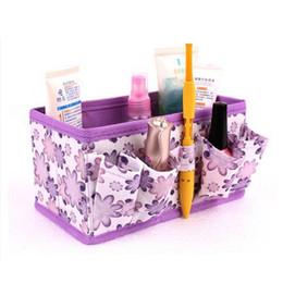 Wholesale Makeup Organiser Box - Wholesale- New Women Make up Organizer Bag Makeup Cosmetic Storage Box Bag Ladies Bright Organiser Multi Functional Women Cosmetic Bags
