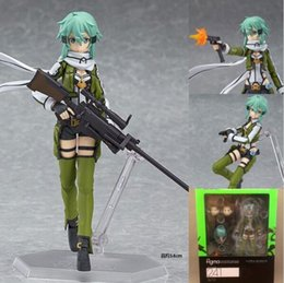 Wholesale Sword Art Online Sao - Anime Sword Art Online 2 Figma 241 Sinon Asada Sao 2 PVC Action Figure Collection Model Toys Doll Brinquedos Free Shipping