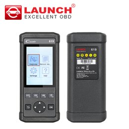 Wholesale Autel 619 - LAUNCH X431 creader 619 scan obd2 Eobd code reader support ABS SRS system X-431 CR619 function as CR6001 AUTEL AL619 DHL free