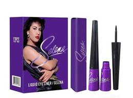 Vente chaude Marque Maquillage Étanche Selena Eyeliner Noir Couleur Eye Liner Make Up Livraison Gratuite 2 Pcs / Lot ? partir de fabricateur