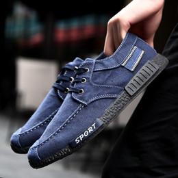 Wholesale Korean Summer Shoes Men - Summer New Men 's Casual Shoes 2017 Washed Canvas Shoes Men Trend Korean Men' s Breathable Shoes S-030