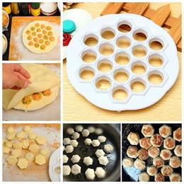 Wholesale Mold Dough - New Dumpling Mold Maker Kitchen Dough Press Ravioli DIY 19 Holes Dumplings Maker Mold