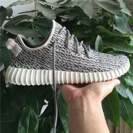 Wholesale Black Light Golf - Boost 350 Shoes Turtle Dove Grey Pirate Black Moonrock Oxford Tan Kanye West 350 Boosts Outdoor Light Running Shoes Soprts Sneaker
