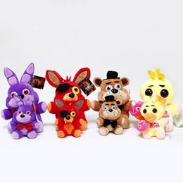 Wholesale New Game Figure - New 15-18cm FNaF Plush pendant Five Nights at Freddy's At freddys Bear Fox Rabbit Stuffed Animals figure kids Plush dolls toys B001