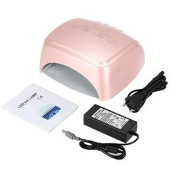 Wholesale Fingernail Polishes - Wholesale- 60W LED Light UV Lamp Nail Dryer 5S Fast Drying Fingernail&Toenail Gel Polish Curing Nail Art Dryer Manicure Tools