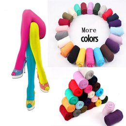 Wholesale Girls Gold Tights - Wholesale- 1 Pair New Beauty 14 Colors Women Sexy Pantyhose Nylon Footed Tights Seamless Velvet Stockings for Women Lady Girl Leg Warmers