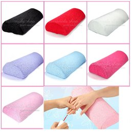 Wholesale Nail Systems Uv Gel - New Nail Art Cushion Pillow Tool for UV color gel acrylic polish system manicure 7COLOR Choose