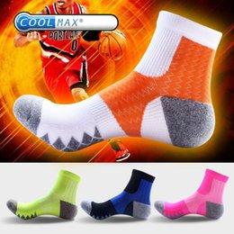 Wholesale Bright Color Socks - 2 pairs lot brand bright color cotton socks men soc coolmax compression socks quick-dry sokken cool basket ball meias