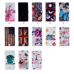 Wholesale Card Holder Uk - For LG K3 2017,MOTO G5, G5 Plus UK USA Flag Wallet Leather Butterfly Fashion Flower Eiffel Tower Owl Flip Cover Cartoon Stand Holder Pouch