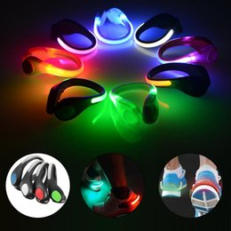 Wholesale Running Reflectors - Wholesale- Outdoor Sports Luminous Shoes Clip Night Safety Shoe Light Safety Warning Reflector Flashing Lights For Bike Cycling Running
