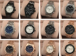 Wholesale Women Work Top - All Subdials Work AAA Mens or women Watches Steel Quartz Wristwatches Stopwatch Luxury Watch Top Brand relogies for men relojes Best Gift